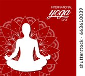 international yoga day  vector... | Shutterstock .eps vector #663610039