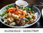 fresh healthy vietnamese asian... | Shutterstock . vector #663617869