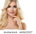 blonde woman beautiful portrait.... | Shutterstock . vector #663622327