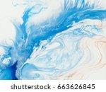 blue creative abstract hand... | Shutterstock . vector #663626845