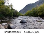 Mountain Clean River With Stones