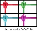 four different color of  bow on ... | Shutterstock . vector #66363196