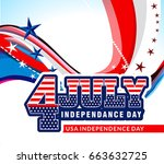 4th of july american... | Shutterstock .eps vector #663632725