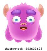 cute cartoon monster   Shutterstock .eps vector #663633625