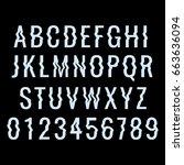 glitch distortion typeface....   Shutterstock .eps vector #663636094