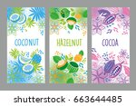vector set of templates... | Shutterstock .eps vector #663644485