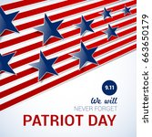 patriot day design template on... | Shutterstock .eps vector #663650179