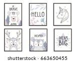 scandinavian style posters for ... | Shutterstock .eps vector #663650455