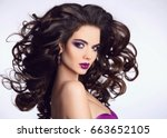 healthy hair. beautiful... | Shutterstock . vector #663652105