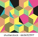 geometric seamless pattern... | Shutterstock .eps vector #663652597