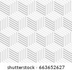 geometric seamless pattern... | Shutterstock .eps vector #663652627