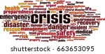 crisis word cloud concept.... | Shutterstock .eps vector #663653095