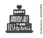 happy anniversary and best... | Shutterstock .eps vector #663655891