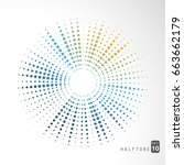 abstract color halftone... | Shutterstock .eps vector #663662179