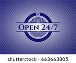 Open 24 7 Jean Background