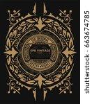 vintage label for packing | Shutterstock .eps vector #663674785