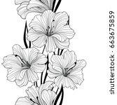 floral seamless pattern. flower ...   Shutterstock .eps vector #663675859