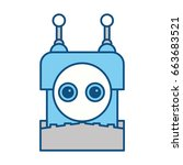 robot toy funny | Shutterstock .eps vector #663683521