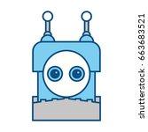 robot toy funny | Shutterstock .eps vector #663683521