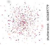 colorful confetti falling... | Shutterstock .eps vector #663689779