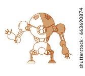 robot toy funny | Shutterstock .eps vector #663690874