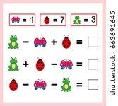 mathematics task.  learning... | Shutterstock .eps vector #663691645