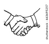 handshake business symbol | Shutterstock .eps vector #663695257