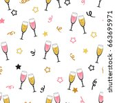 celebration background with...   Shutterstock .eps vector #663695971
