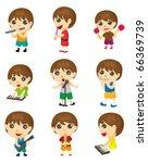 cartoon music poeple   Shutterstock .eps vector #66369739