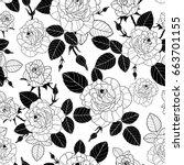 vector vintage black and white... | Shutterstock .eps vector #663701155