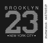 new york typography graphics.... | Shutterstock .eps vector #663703519
