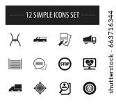 set of 12 editable complex...