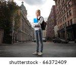 Beautiful Student On A City...