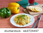fresh summer salad with cabbage ...
