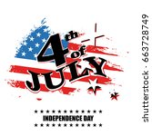 greeting card for independence... | Shutterstock . vector #663728749