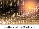 stock market or forex trading... | Shutterstock . vector #663730555
