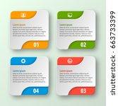 vector abstract 3d paper...   Shutterstock .eps vector #663733399