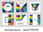 abstract vector layout... | Shutterstock .eps vector #663735955