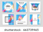 abstract vector layout... | Shutterstock .eps vector #663739465