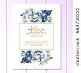 vintage delicate invitation... | Shutterstock .eps vector #663750235