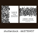 vintage delicate invitation... | Shutterstock .eps vector #663750457