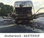 Small photo of Grim aftermath of a fire end of this truck.