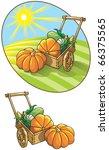 autumn harvest  wheelbarrow... | Shutterstock . vector #66375565