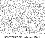 the cracks texture white and... | Shutterstock .eps vector #663764521