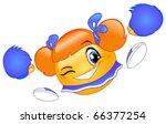 cheerleader emoticon