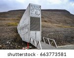 global seed vaults longyearbyen ...   Shutterstock . vector #663773581