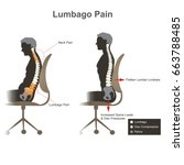 lumbago pain. health care info... | Shutterstock .eps vector #663788485