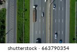 aerial view of expressway ... | Shutterstock . vector #663790354