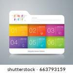 folder infographics design... | Shutterstock .eps vector #663793159
