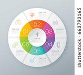 infographics design vector and... | Shutterstock .eps vector #663793165